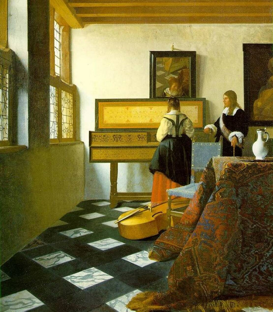 Vermeer, The Music Lesson, 1664