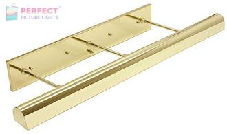 """Direct Wire Traditional 36"""" Polished Brass Picture Light"""