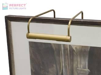 "Slim-Line 6"" Weathered Brass Picture Light"