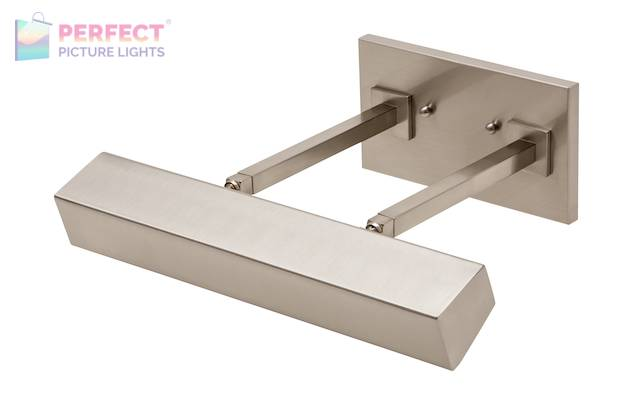 """14"""" Direct Wire Guilford LED Picture Light in Satin Nickel"""