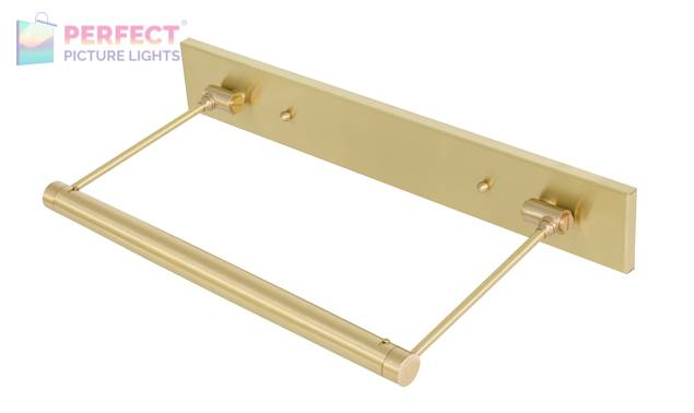 """15"""" Direct Wire Mendon LED Picture Light in Satin Brass"""