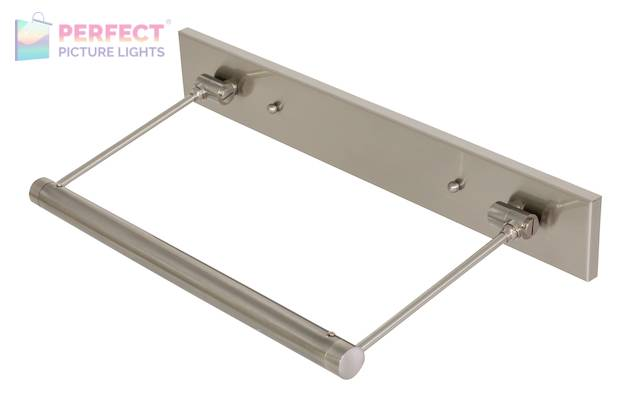 """15"""" Direct Wire Mendon LED Picture Light in Satin Nickel"""