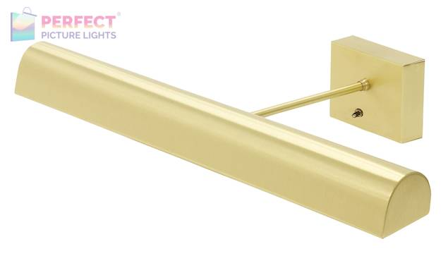 "Battery Operated Classic LED 24"" Satin Brass Picture Light"