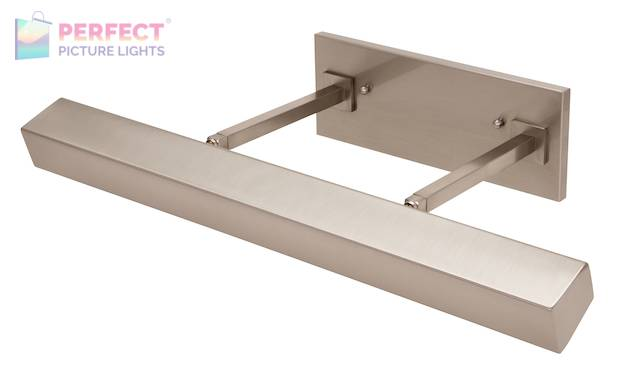 """24"""" Direct Wire Guilford LED Picture Light in Satin Nickel"""