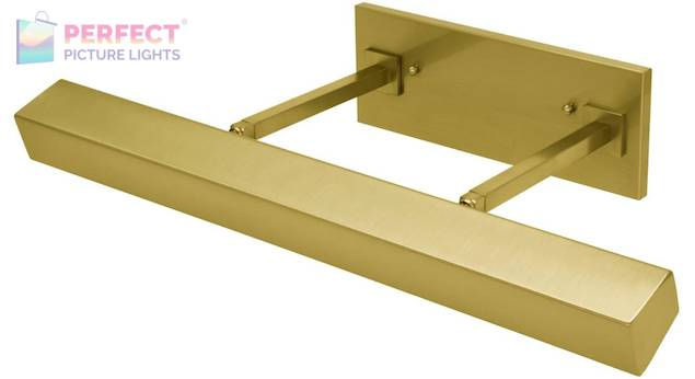 """24"""" Direct Wire Guilford LED Picture Light in Weathered Brass"""