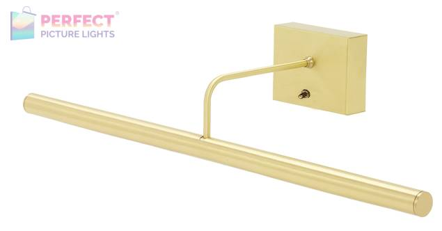 """Battery Operated Slim-LED 24"""" Satin Brass Picture Light"""