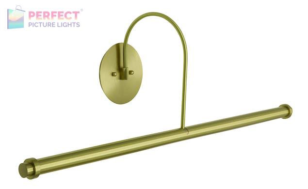 """30"""" Direct Wire XL LED Picture Light in Satin Brass"""
