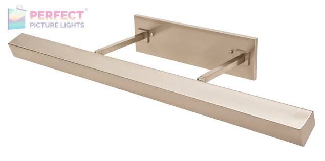 """36"""" Direct Wire Guilford LED Picture Light in Satin Nickel"""