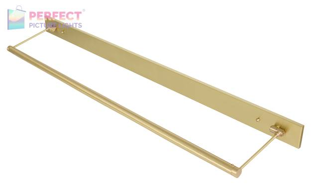 """43"""" Direct Wire Mendon LED Picture Light in Satin Brass"""