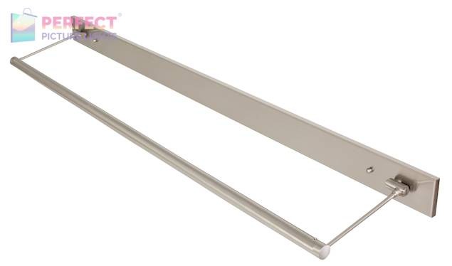 """43"""" Direct Wire Mendon LED Picture Light in Satin Nickel"""