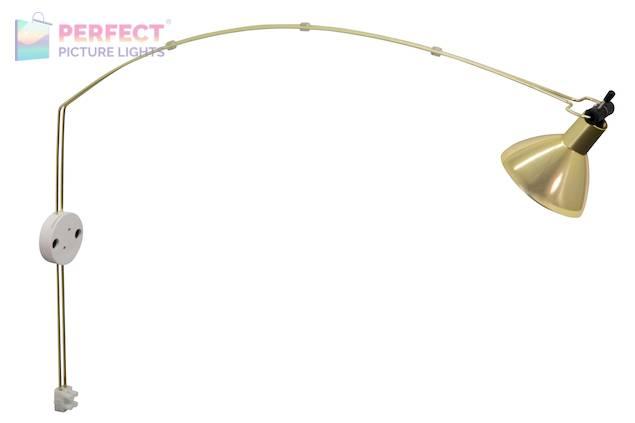 Advent Gemini LED Satin Brass Picture Light