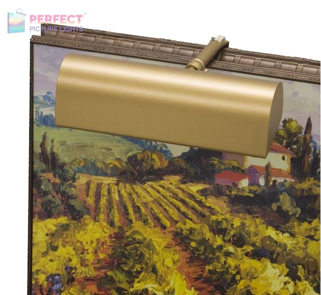 "Battery Operated 8"" Gold Picture Light"