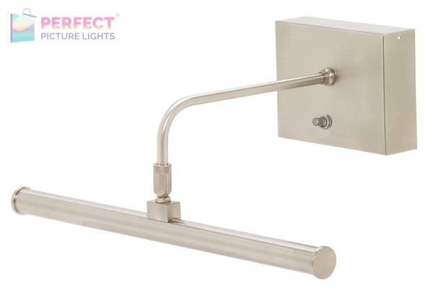 """Battery Operated Slim-LED 12"""" Satin Nickel Picture Light"""