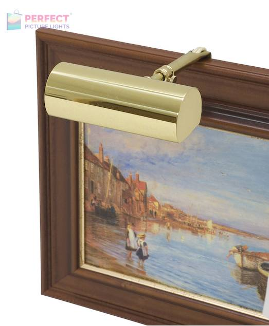 """Contemporary 5"""" Polished Brass Picture Light"""