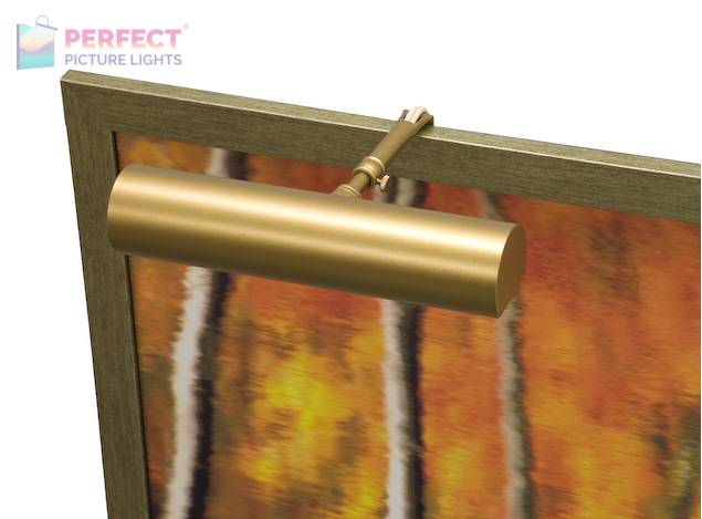 """Contemporary 9"""" Gold Smooth Picture Light"""