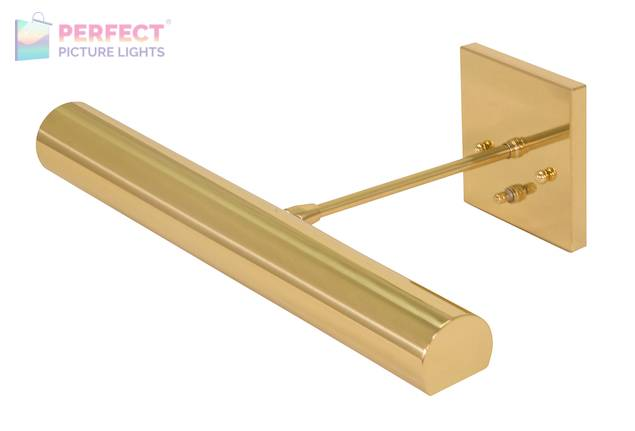 """Direct Wire Contemporary 16"""" Polished Brass Picture Light"""