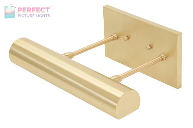 """Direct Wire Classic Contemporary LED 12"""" Satin Brass Picture Light"""