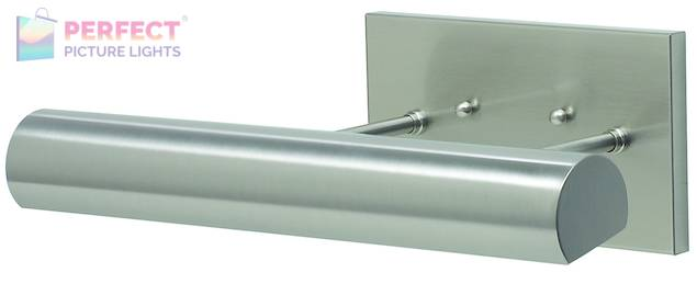 """Direct Wire Classic Contemporary LED 12"""" Satin Nickel Picture Light"""