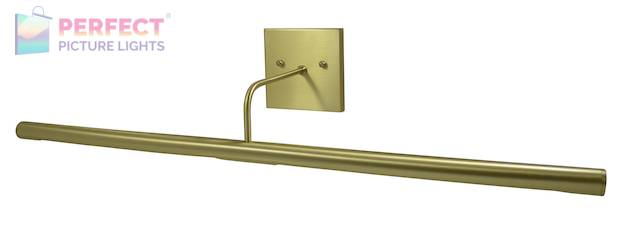"""Direct Wire Slim-Line LED 28"""" Satin Brass Picture Light"""