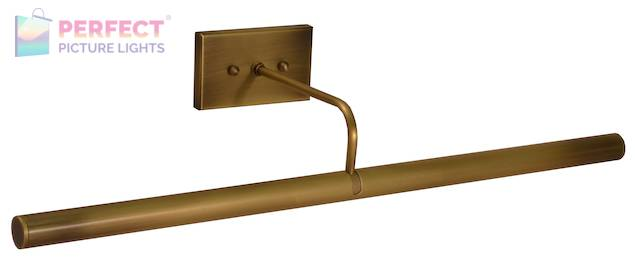 "Direct Wire Slim-Line 24"" Antique Brass Picture Light"