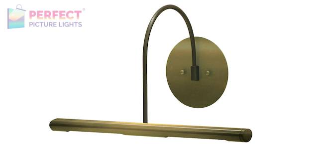 "Direct Wire Slim-Line XL 14"" Antique Brass Picture Light"