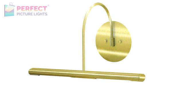 """Direct Wire Slim-Line XL 14"""" Polished Brass Picture Light"""