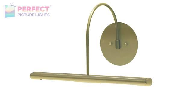 "Direct Wire Slim-Line XL 14"" Satin Brass Picture Light"