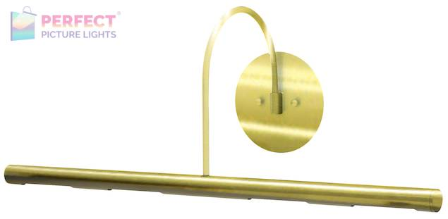 """Direct Wire Slim-Line XL 24"""" Polished Brass Picture Light"""
