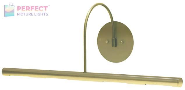 "Direct Wire Slim-Line XL 24"" Satin Brass Picture Light"