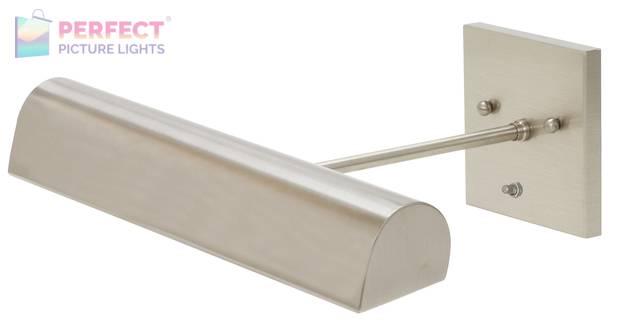 """Direct Wire Traditional 14"""" Satin Nickel Picture Light"""