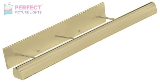 "Direct Wire Traditional 36"" Satin Brass Picture Light"