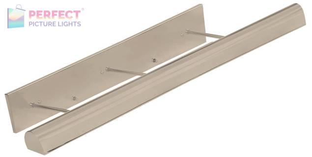 """Direct Wire Traditional 36"""" Satin Nickel Picture Light"""