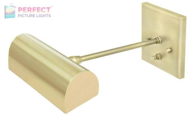 """Direct Wire Traditional 8"""" Satin Brass Picture Light"""
