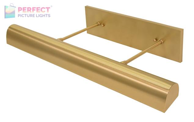 "Direct Wire 24"" Classic Traditional LED Picture Light in Satin Brass"