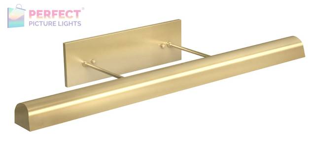 """Direct Wire 36"""" Classic Traditional LED Picture Light in Satin Brass"""