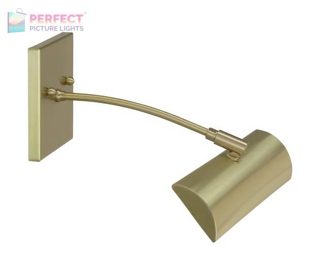 "Zenith 12""Direct Wire LEDZ picture light in Satin Brass"