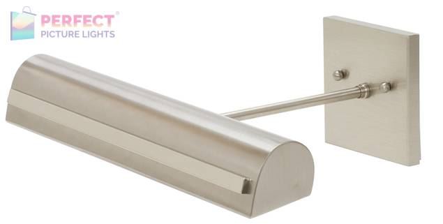 """Directwire Traditional 14"""" LEDZ Picture Light with Strap Motif in Satin Nickel"""