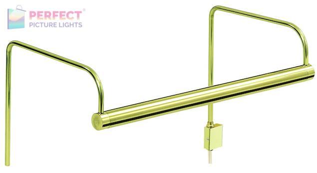 "Slim-Line 11"" Polished Brass Picture Light"