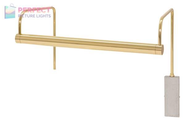 "Slim-Line 15"" LED Picture Light in Polished Brass"