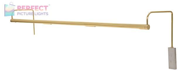 "Slim-Line 43"" LED Picture Light in Polished Brass"