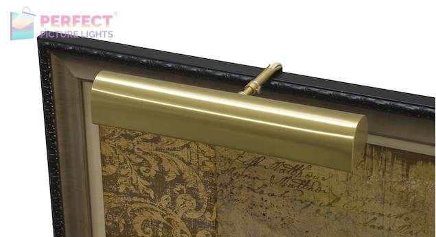 """Traditional 18"""" Satin Brass Picture Light"""