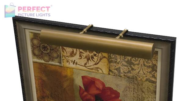 """Traditional 24"""" Weathered Brass Picture Light"""