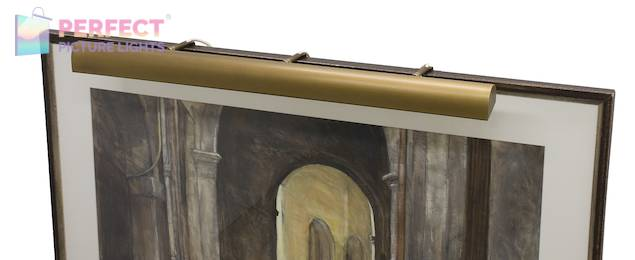 """Traditional 36"""" Weathered Brass Picture Light"""