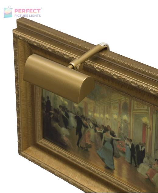 """Traditional 4"""" Gold Picture Light"""