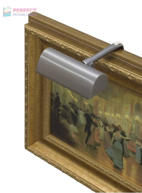 """Traditional 4"""" Pewter Picture Light"""