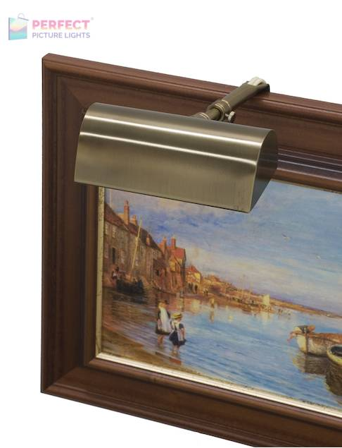 """Traditional 4"""" Statuary Bronze Picture Light"""