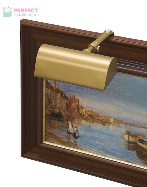 "Traditional 5"" Gold Picture Light"