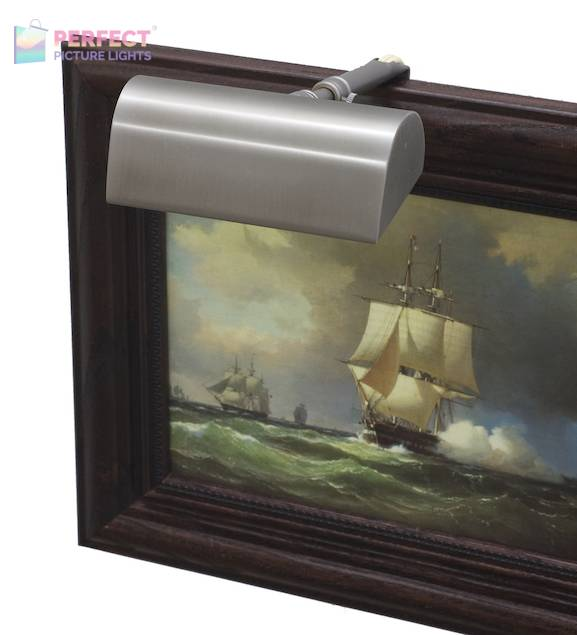 """Traditional 5"""" Pewter Picture Light"""
