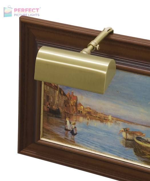 """Traditional 5"""" Satin Brass Picture Light"""