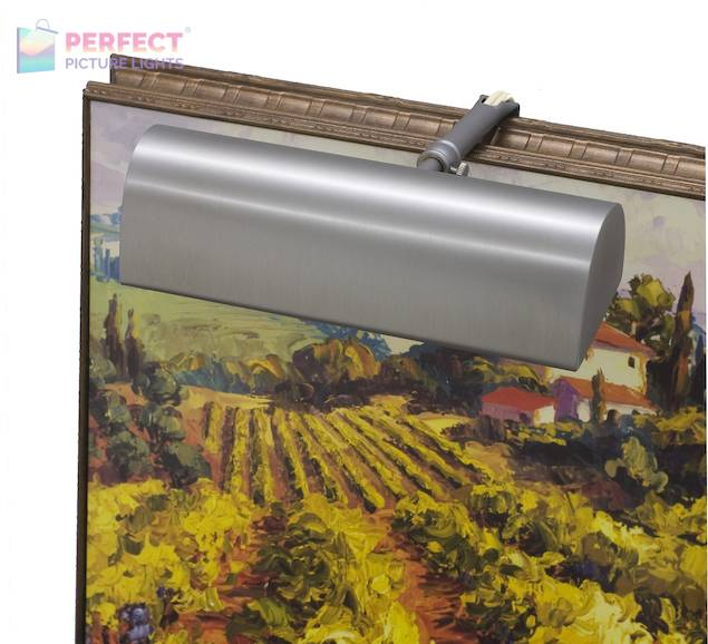 """Traditional 8"""" Pewter Picture Light"""
